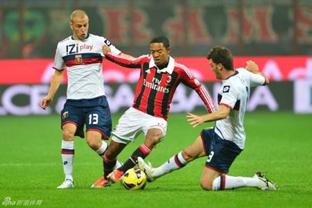 Dù cầm bóng tới 63% nhưng AC Milan không thể hiện được nhiều