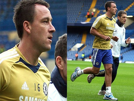 Terry đã đeo số áo của Di Matteo trong buổi tập của Chelsea