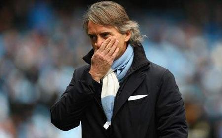 Tính toán sai lầm của Mancini có thể khiến Man City mất tất cả trong mùa giải này