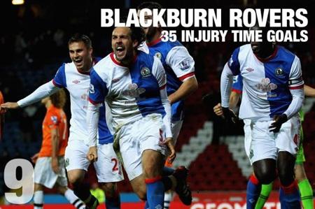 """Đội bóng đang thi đấu tại Championship, Blackburn cũng """"nổ súng"""" tới 35 bàn trong những phút bù giờ"""