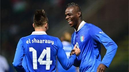 Balotelli-El Shaarawy, cặp tấn công trong mơ của ĐT Italia