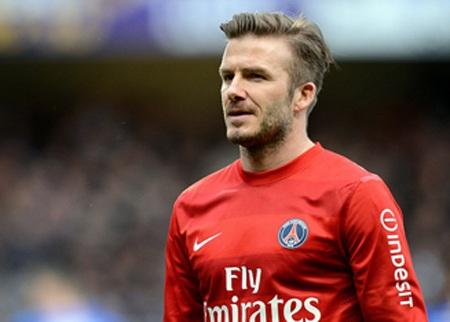 Kiểu tóc của Beckham trong thời gian khoác áo PSG