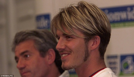 Hình ảnh của Beckham trong năm 2000
