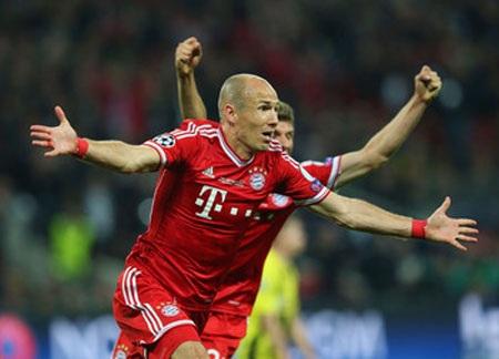 """""""Người hùng"""" trận chung kết Champions League, Robbenđược đánh giá là ứng cử viên số 3"""