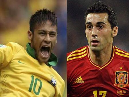 """Những """"điểm nóng"""" quyết định trận chung kết Brazil - Tây Ban Nha"""