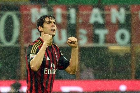 """Dù Kaka đã """"phát hỏa"""" nhưng AC Milan vẫn chia điểm trước Lazio"""
