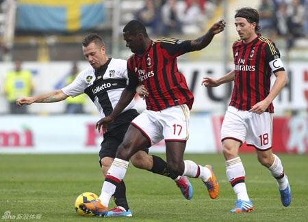 AC Milan bất ngờ gục ngã trước Parma