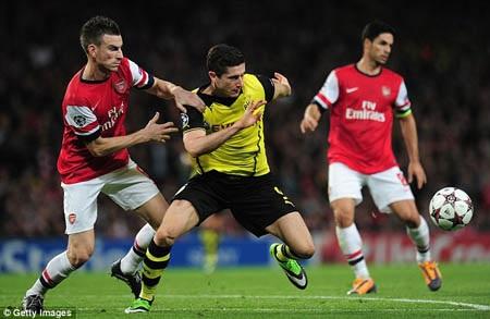 Arsenal thúc thủ ngay trên sân nhà trước Dortmund