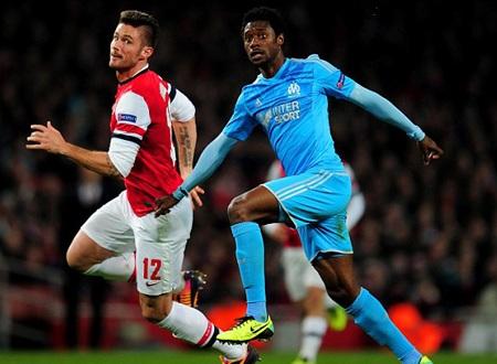Arsenal dễ dàng khuất phục Marseil