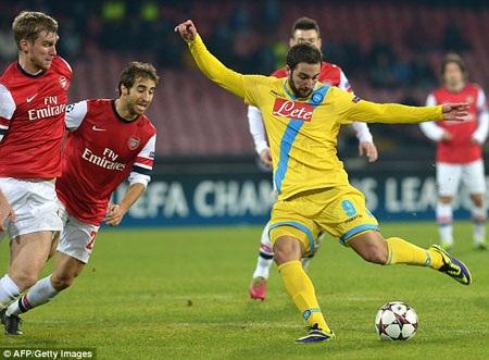 Arsenal gặp rất nhiều khó khăn tại San Paolo