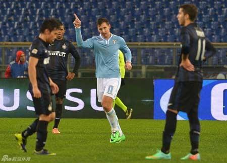 Inter tiếp tục gây thất vọng với thất bại trước Lazio