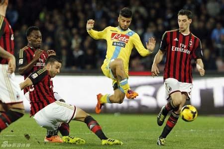 Napoli đã xuất sắc có được chiến thắng trước AC Milan