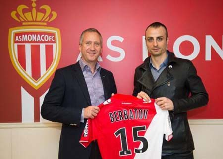Berbatov chính thức khoác áo Monaco