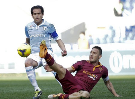 Lazio và AS Roma đã chia điểm trong trận cầu không có bàn thắng