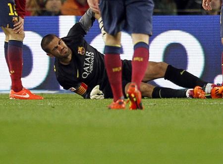 Chấn thương của Valdes sẽ để lại khoảng trống lớn trong khung gỗ Barca