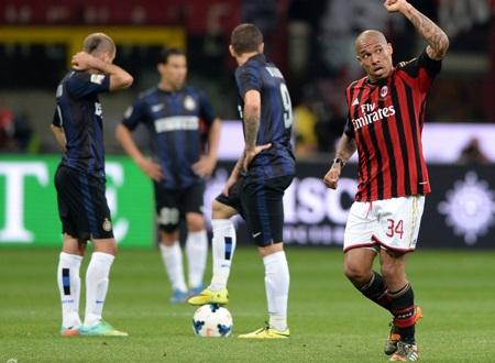 AC Milan vượt qua Inter nhờ bàn thắng duy nhất của De Jong
