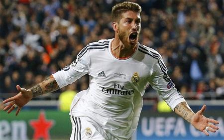 Sergio Ramos thường xuyên ghi bàn thắng vô cùng quan trọng cho Real Madrid