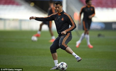 Nhìn C.Ronaldo tập luyện như không hề có dấu hiệu chấn thương