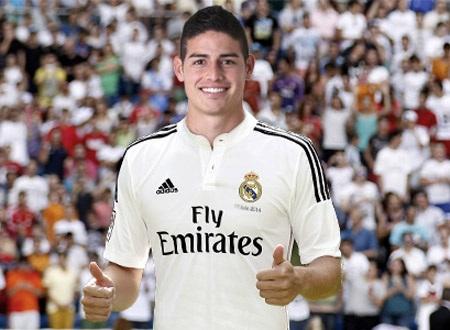 James Rodriguez chính thức gia nhập Real Madrid