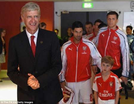 HLV Wenger hài lòng về màn trình diễn của Arsenal