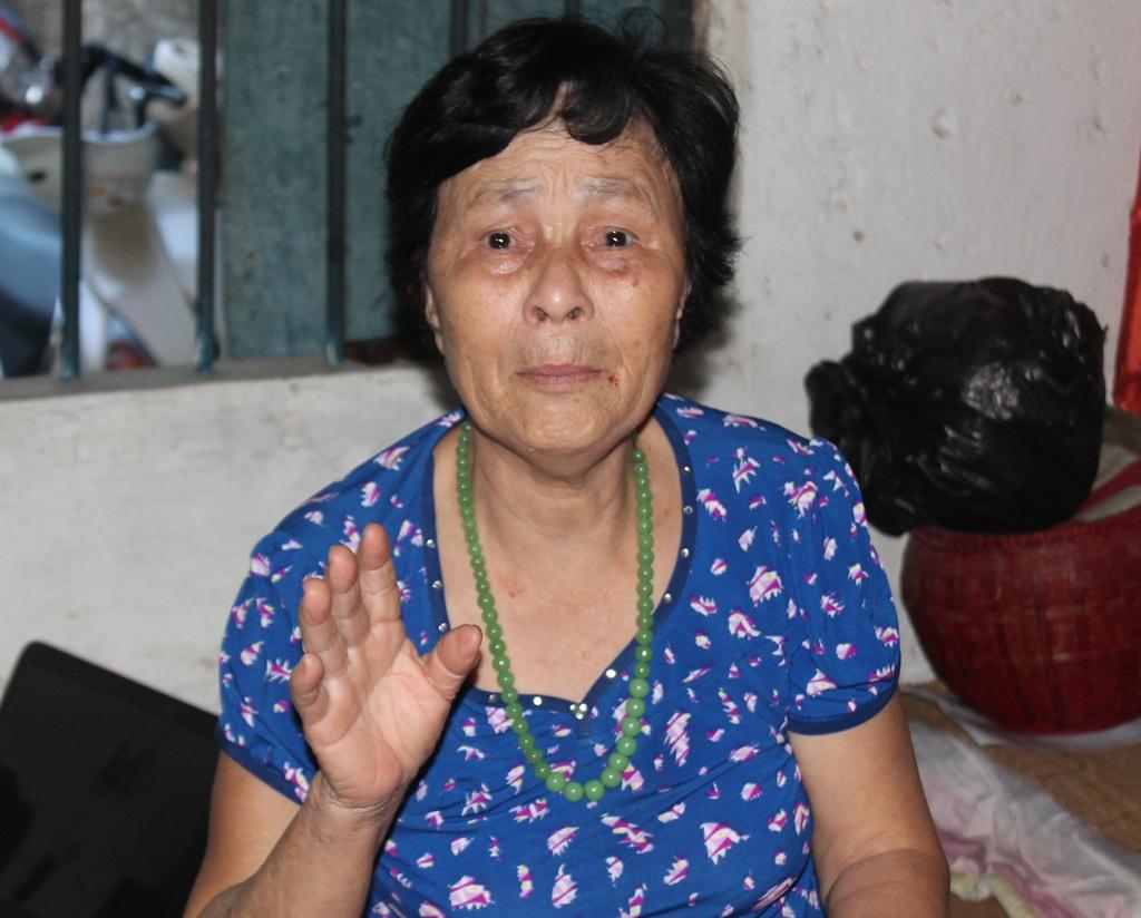 Bà Nguyễn Thị Thanh Mai nay đã gần 80 tuổi...