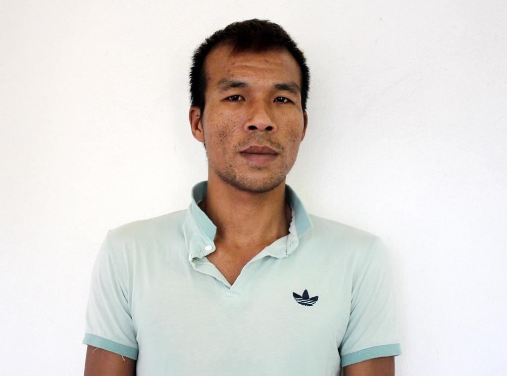 Nguyễn Như Đức tại cơ quan điều tra Công an Tp Vinh.