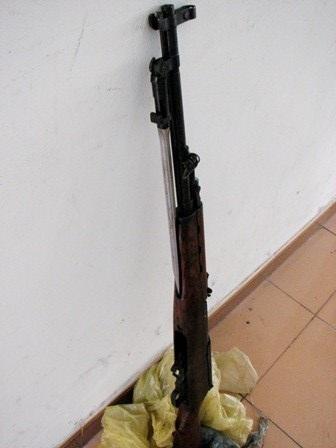 Khẩu súng CKC ông Tấn phát hiện và bàn giao cho Công an phường Hòa Khánh Bắc