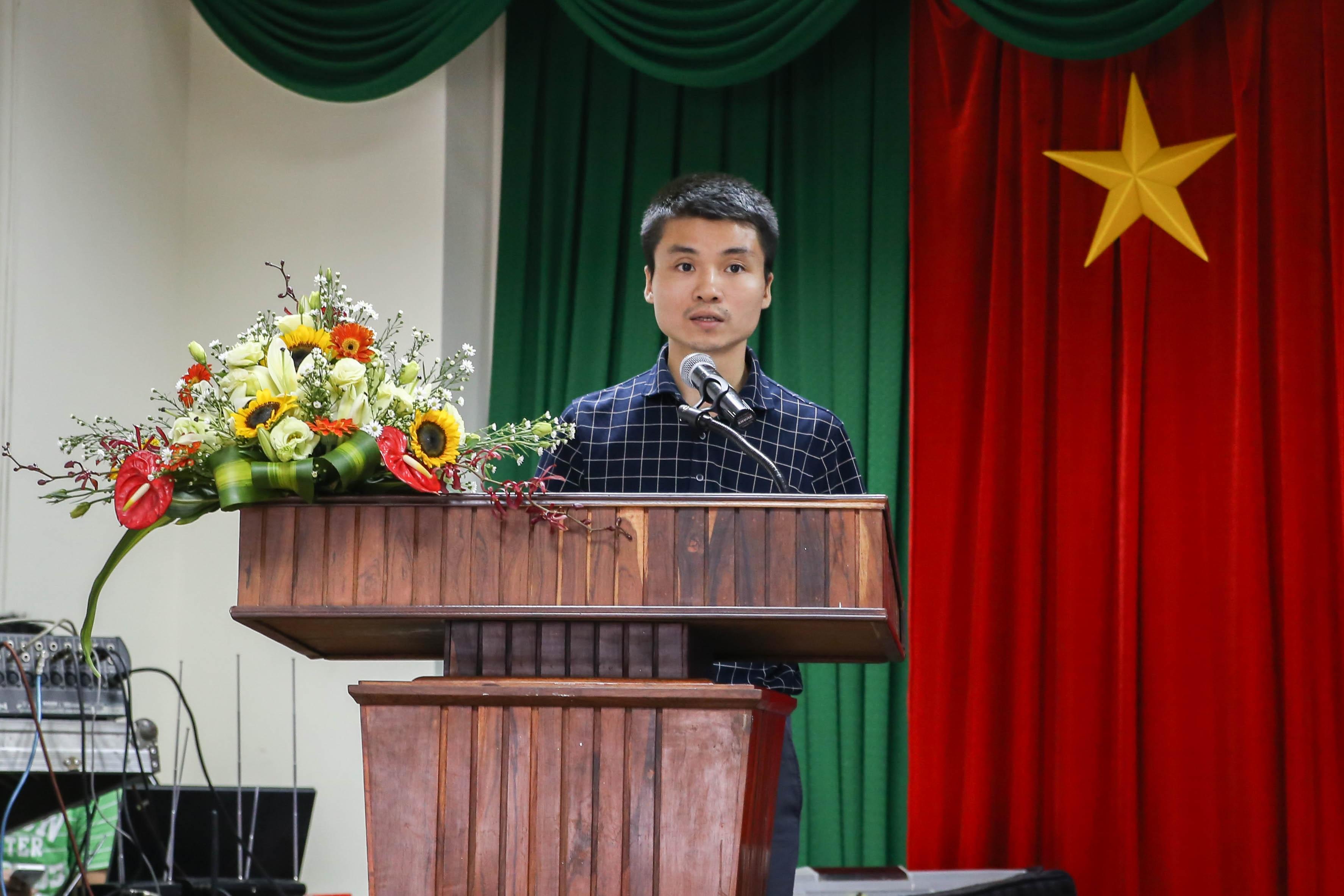 Ông Phạm Tuấn Anh, Phó Tổng Biên tập Báo điện tử Dân trí phát biểu