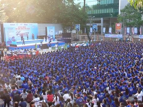 Hơn 9000 sinh viên tình nguyện có mặt tại lễ ra quân sáng nay