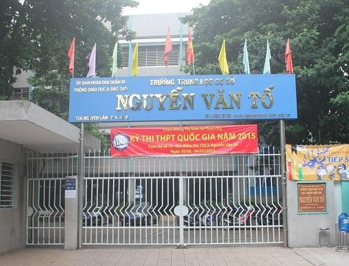 Điểm thi trường THCS Nguyễn Văn Tố nơi có thí sinh quậy sáng nay