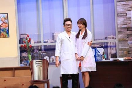 """Hari Won và Trấn Thành trong show truyền hình """"Ơn giời cậu đây rồi"""""""