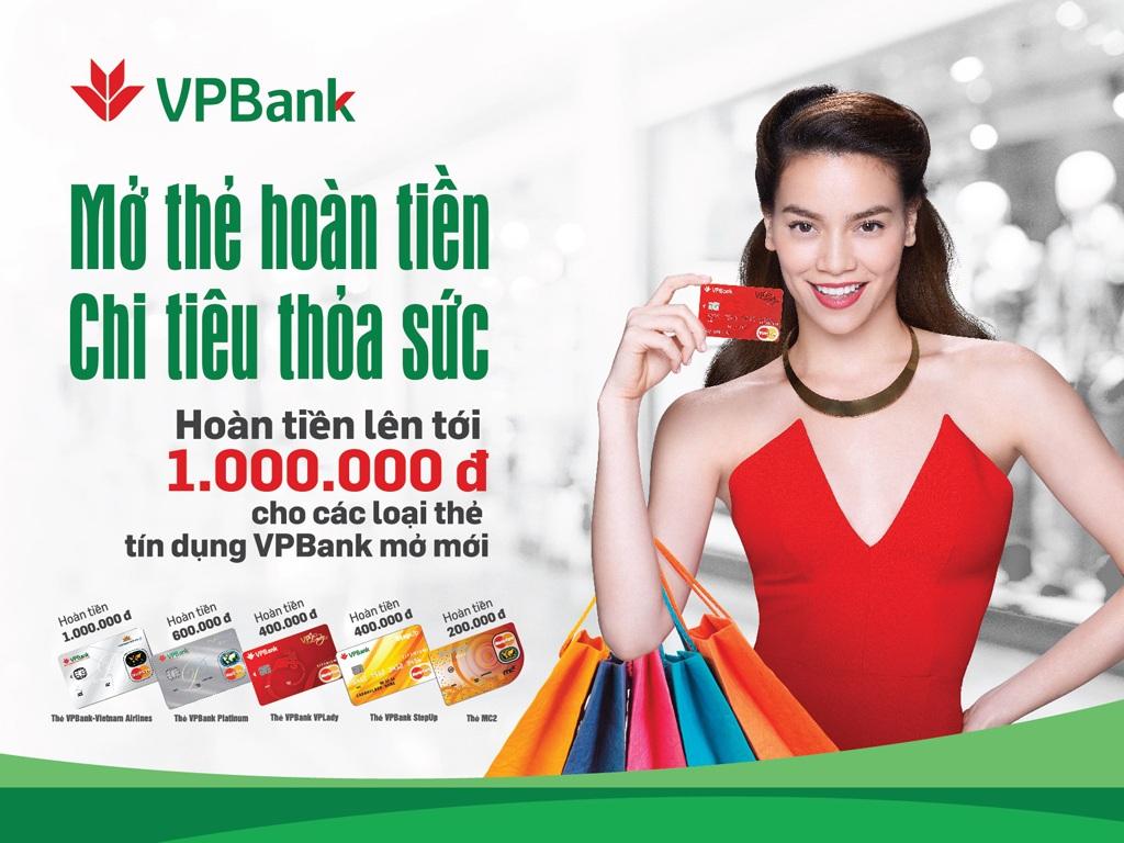 Khách hàng mở mới các loại thẻ tín dụngVPBankđược tặng ngay tiền mặt vào tài khoản