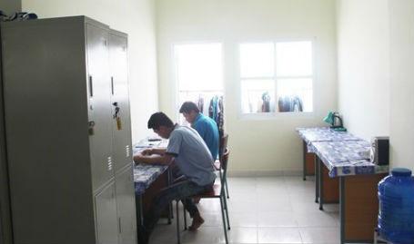 KTX có phòng học riêng dành cho sinh viên.