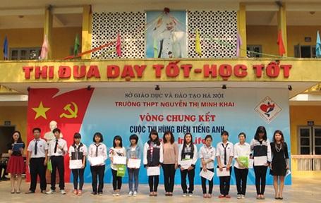 Vòng loại cuộc thi hùng biện tiếng Anh Kella in Life tại Trường THPT Nguyễn Thị Minh Khai (Hà Nội)