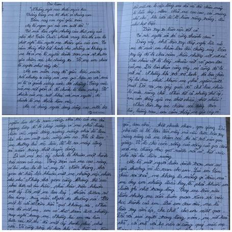 Bài văn của em Phạm Thị Thu Hà