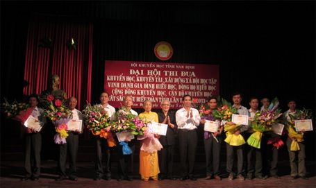 Hội Khuyến học tỉnh Nam Định: Vinh danh 150 gia đình, dòng họ, cộng đồng khuyến học, cán bộ khuyến học xuất sắc tiêu biểu