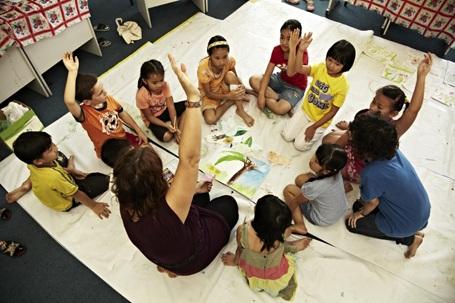 Các học sinh Language Link trong một chương trình ngoại khóa hè