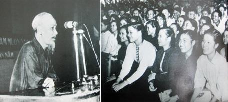 Bác Hồ thăm lớp học vỡ lòng ở Hàng Than (Hà Nội). (Ảnh tư liệu)