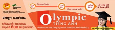 Lịch trình cuộc thi Olympic tiếng Anh lần thứ 4.