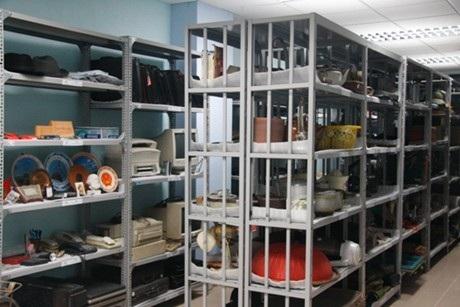 Bên trong một kho bảo quản tư liệu của Trung tâm Di sản các nhà khoa học Việt Nam. (Ảnh: Tiến Mạnh)