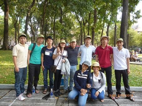 Các thành viên của dự án nhặt rác Sài Gòn