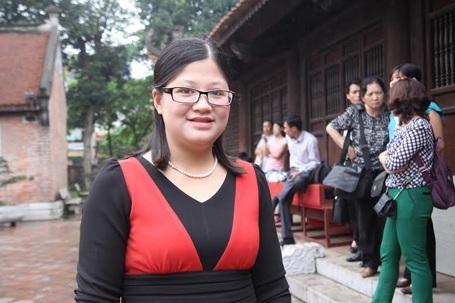 Cô Bùi Thị Nhung - giáo viên Sử Trường THPT Chuyên Lê Hồng Phong (Nam Định).