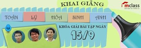 Đặng Thành Nam sẽ tham gia khóa luyện giải bài tập của Mclass.vn