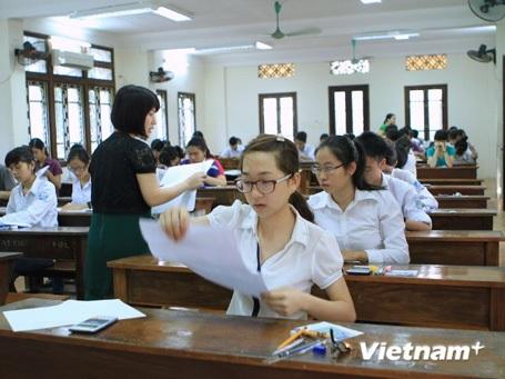 Thí sinh dự thi đại học năm 2014. (Ảnh: Xuân Mai/Vietnam+)