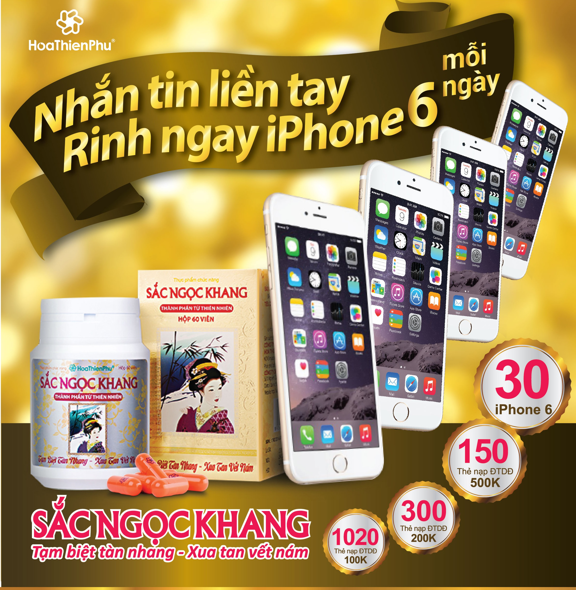 Tham gia chương trình để có cơ hội rinh iPhone 6 cùng Sắc Ngọc Khang