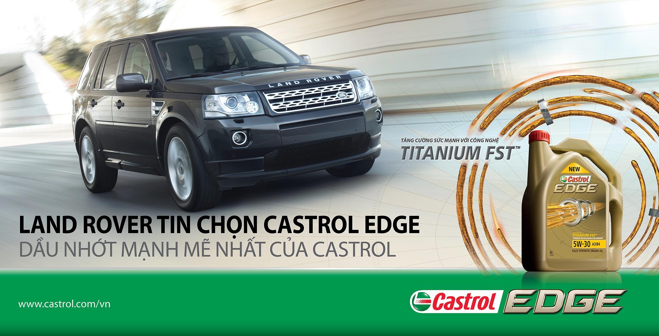 Land Rover tin chọn Castrol EDGE 5W-30