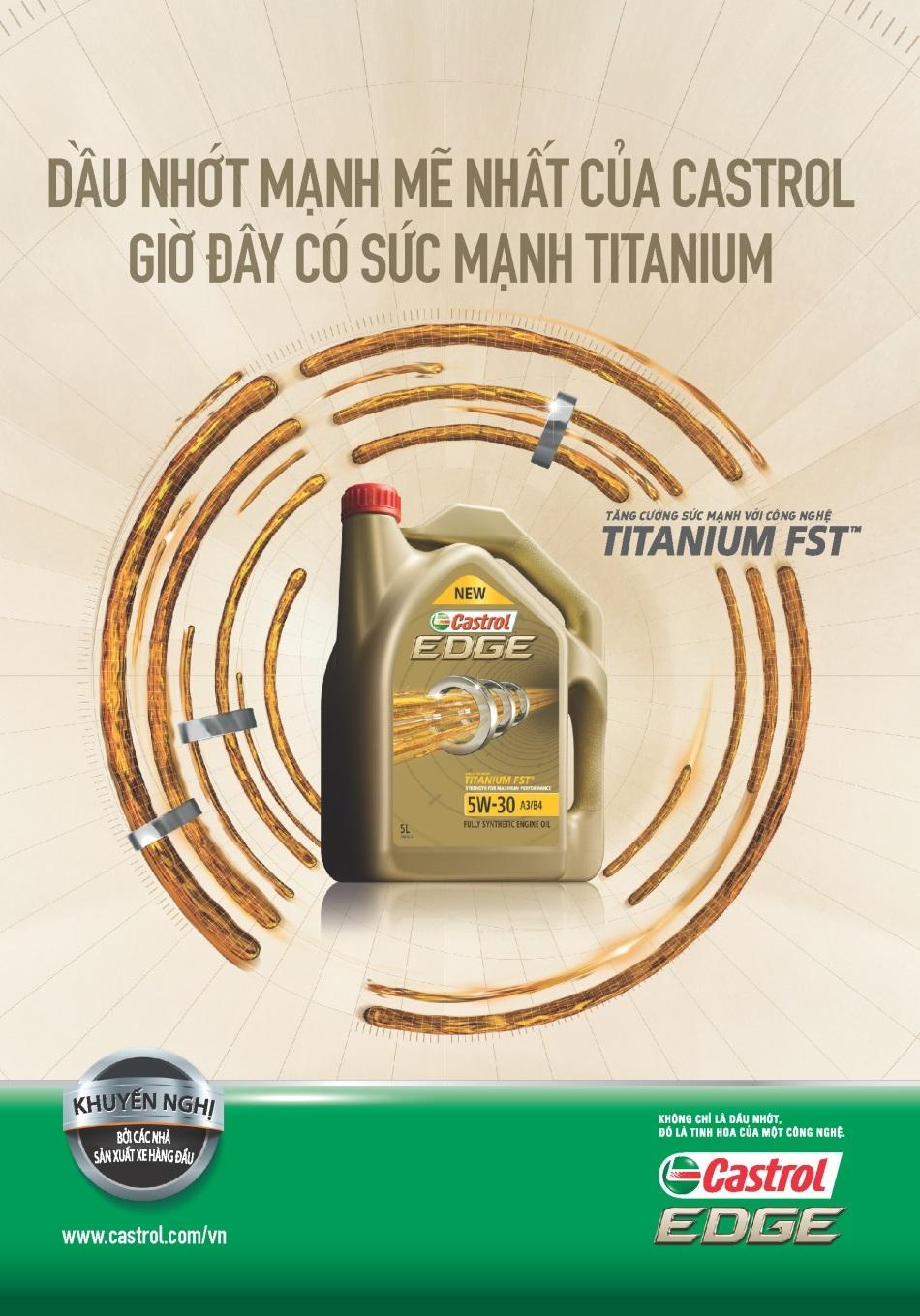 EDGE 5W-30 - Dòng sản phẩm dầu nhớt mạnh mẽ nhất của Castrol