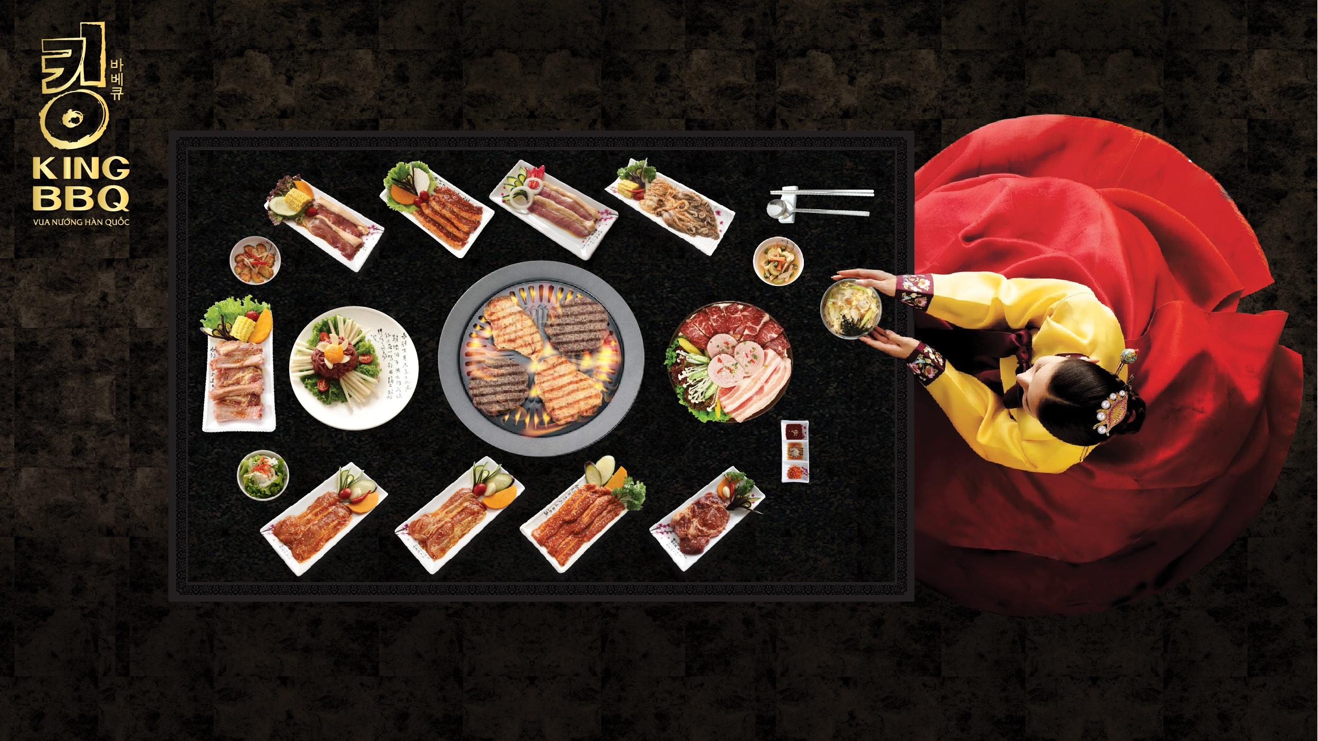 Những món ăn tinh tế, chuẩn vị Hàn Quốc tại King BBQ