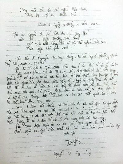 (Bức thư của chị Thúyxin Chủ tịch nướctha chết cho kẻ chặt tay mình)
