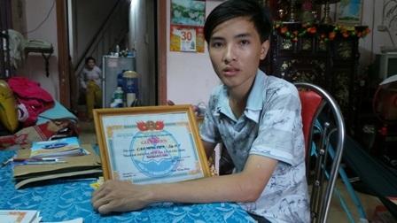 Thủ khoa ĐH Xây dựng miền Tây từng đạt giải Ba học sinh giỏi môn Địa cấp tỉnh.